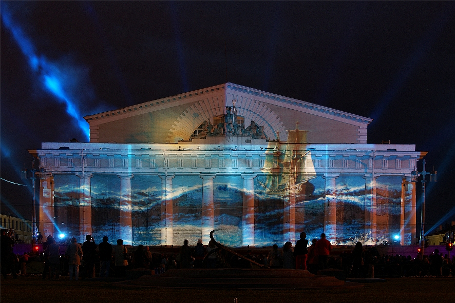 In 2003, several paintings represented Russia at the international forum in St. Petersburg on a laser show for heads of state.